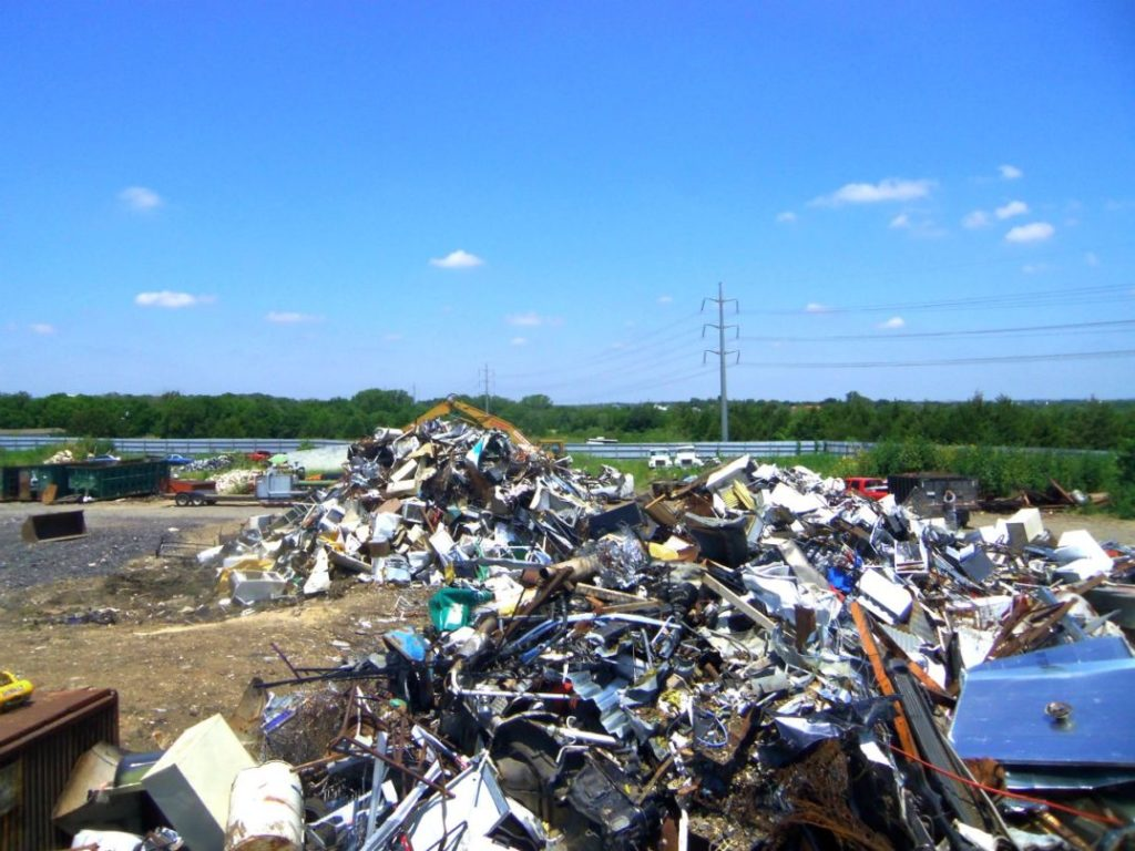 Back yard of our Austin recycling center