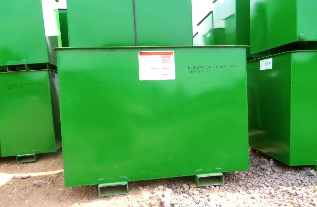 Commercial recycling Austin 1 cubic yard bins