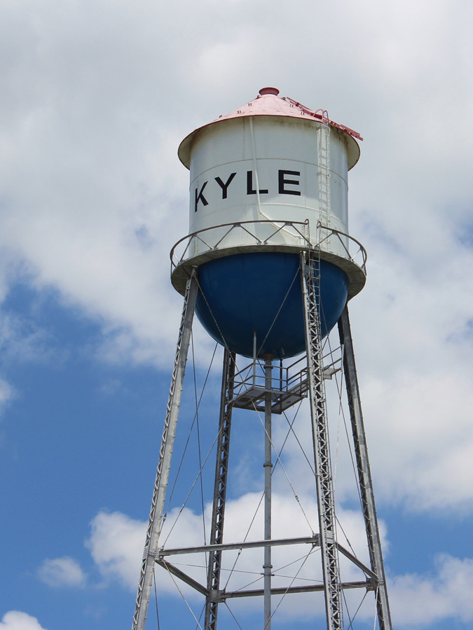 Metal recycling Kyle water tower